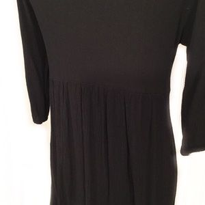 Vanilla Bay Tops - VANILLA BAY BLACK EMBROIDERED TUNIC MEDIUM